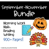 Back to School Reading Comprehension Math Writing Morning Work
