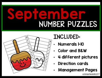 September Number Puzzles (1-10)