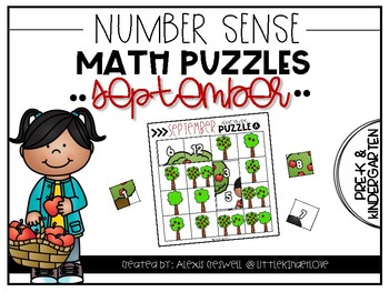 September Number Sense Math Puzzles