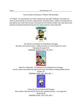 September October 2015 Scholastic Book Recommendations 2nd Grade