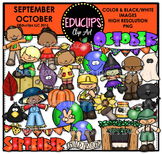 September October Clip Art Bundle {Educlips Clipart}