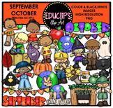 September October Clip Art Bundle {Educlips Clipart}