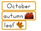 September, October and November Word Walls