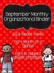 September Organizational Binder