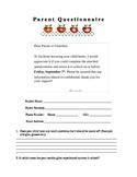 September Parent Questionnaire