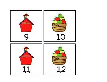 September Pattern Calendar Pieces
