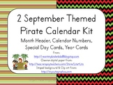 September Pirate Themed Calendar Kits (header, numbers, sp