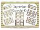 September Pirate Themed Calendar Kits (header, numbers, sp