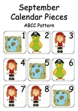 September / Pirate Themed Calendar Pieces for Numeracy Wal