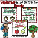 September Pocket Chart Game Bundle Alphabet: Numbers: Sight Words