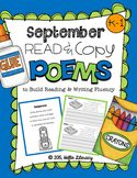 September Poems for Building Reading Fluency & Writing Sta