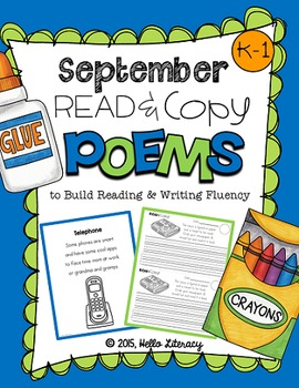 September Poems for Building Reading Fluency & Writing Sta