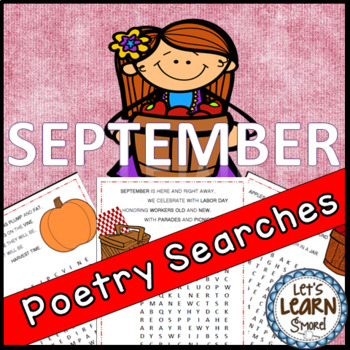September Poetry, Word Searches, Fall Theme, With Original Poetry