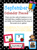 September Polka Dot Calendar Set