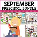 September Preschool Activities Bundle