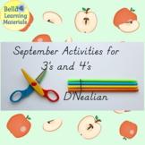 September Preschool Activities D'Nealian   - Distance Learning