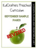 September Preschool Curriculum Sample