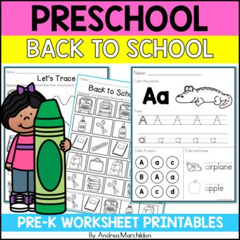Preschool (Pre-K) Back to School Packet
