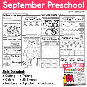 September Preschool Printables - Fall
