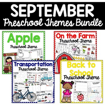 September Preschool Themes Bundle