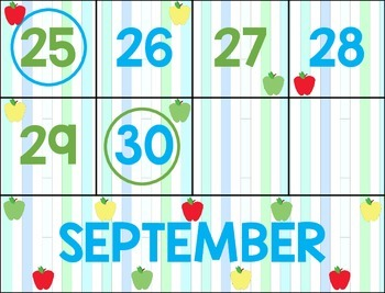 September Primary Calendar Bundle