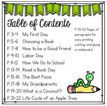 September Print & Go Paragraph Editing: 20 Passages for Grades 3-5