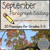 September Print & Go Paragraph Editing: 20 Passages for Gr