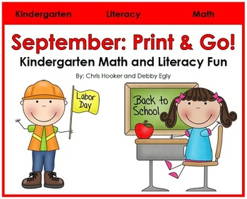 September Print and Go: Math and Literacy Activities for K