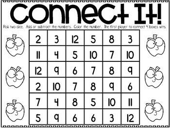 September Printable Math Games