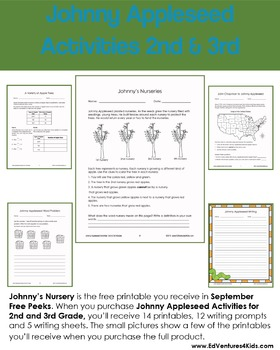 September Printables for 3rd Grade: A Free Peek