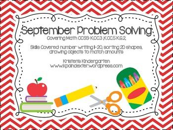 September Problem Solving Pack