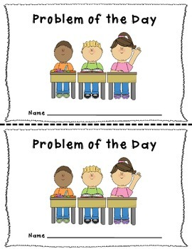 September Problem of the Day for 2nd Grade Common Core Aligned