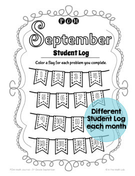 Math Problem-Solving - 3rd Grade September POM Pack