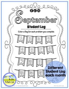 Math Problem-Solving - 4th Grade September POM Pack