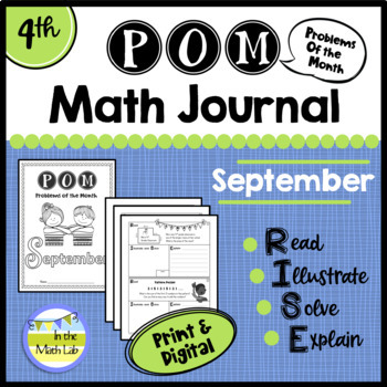 September Problems of the Month (POM) Math Pack - 4th Grade