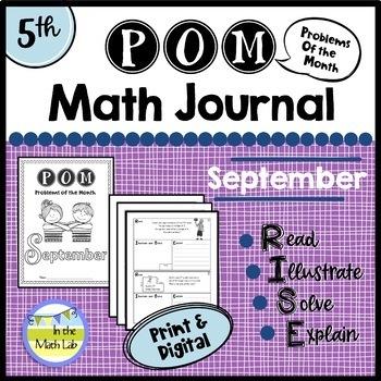 Math Problem-Solving - 5th Grade September POM Pack
