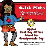 September Quick Picks: Budget-Friendly ELA and Math Funsheets