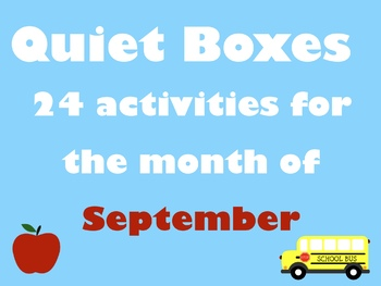 September Quiet Boxes