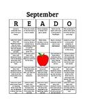 September READO Bingo Board