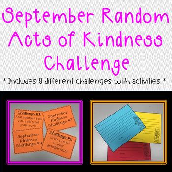 September Random Acts of Kindness Challenge Pack