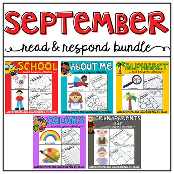 September: Reading Comprehension, Writing and Craftivities BUNDLE