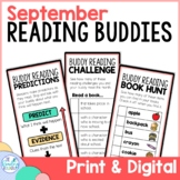 Reading Buddies   Back to School Buddy Reading Activities