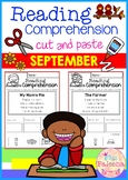 September Reading Comprehension Cut and Paste