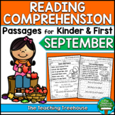 September Reading Comprehension Passages for Kindergarten and First Grade