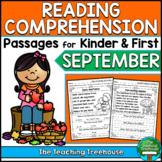 September Reading Comprehension Passages for Kindergarten