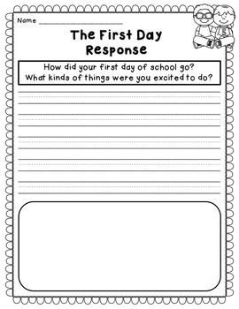 September Reading Comprehension & Written Response