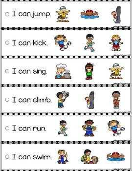 September Reading Fluency and Comprehension Sentence Strip