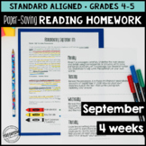 September Reading Homework for 4th & 5th PAPER-SAVING colo