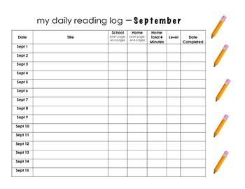 September Reading Log