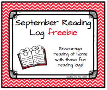 September Reading Log FREEBIE